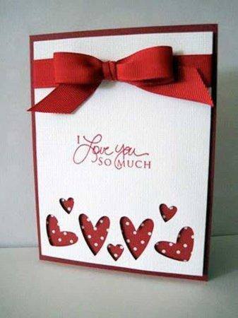 Оригинальная открытка своими руками ко Дню влюбленных